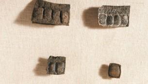 Des tefillin de Qumran (Crédit : Autorisation de l'Autorité israélienne des Antiquité)