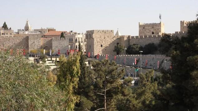 Vue de la Maison de la Confédération Sioniste (Crédit : Shmuel Bar-Am)
