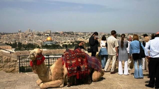 La vue du Mont des Oliviers (Crédit : Shmuel Bar-Am)