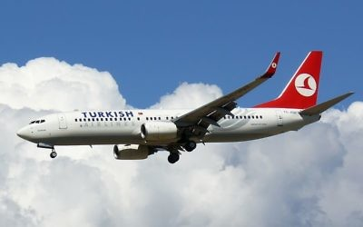 Un Boeing 737 de la compagnie Turkish Airlines (Crédit : David/Flickr/Wikimedia commons/CC BY 2.0)