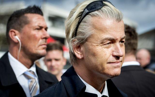 Le député anti-islam néerlandais Geert Wilders (Crédit : AFP/ANP/Koen Van Weel)