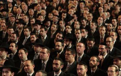Une cérémonie dédiée aux nouveaux rabbins à la Yeshiva University a rassemblé quelque 200 rabbins, certifiés lors des 4 années précédentes, mars 2010 (Crédit : Yeshiva University/JTA)