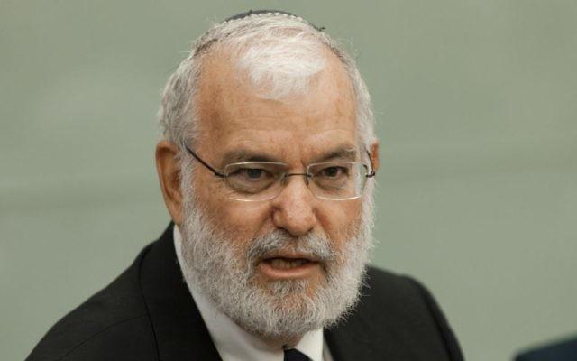 Yaakov Amidror, ancien conseiller à la sécurité nationale, en octobre 2013. (Crédit: Flash90)