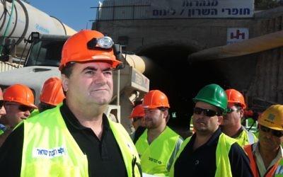 Yisrael Katz, ministre des Transports (Crédit : Kobi Gideon/Flash90)