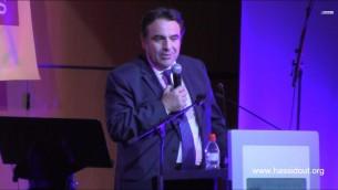 Le président du Consistoire, Joël Mergui (Crédit : capture d'ecran youtube/Hassidout Habad)