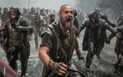 """Russell Crowe dans le nouveau film de Darren Aronofsky """"Noé"""" (Crédit : autorisation de Paramount Pictures)"""