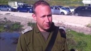 Le lieutenant-colonel Peter Lerner (Crédit : capture d'écran Youtube/IDFnadesk)