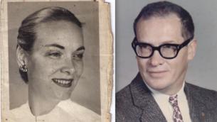 Le cousin de Zipora Saar, Philip Walrod, alors qu'il était directeur d'une école californienne, et sa seconde épouse, Dory, une médecin. (Crédit : autorisation de Duane Walrod via JTA)