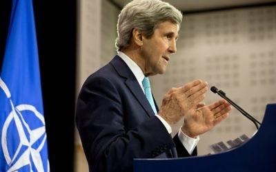 Le secrétaire d'État américain John Kerry (Crédit : Jacquelyn Martin/POOL/AFP Photo)