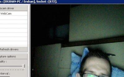 Photo de l'un des Anonymous publiée par des hackers israéliens (Crédit : DR)