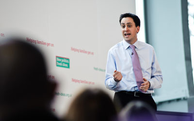 Le chef du parti travailliste britannique Ed Miliband (Crédit : Ed Miliband/Flickr)