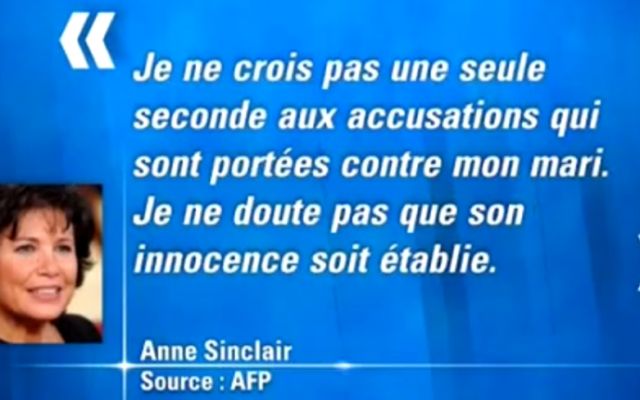 Anne Sinclair (Crédit : capture d'écran BFMTV YouTube)