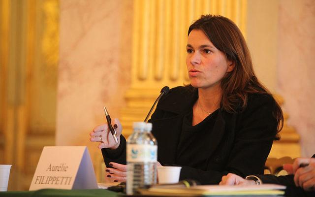 Aurélie Filippetti lors de la Journée du livre politique en 2009 (Crédit : Fondapol - Fondation pour l'innovation politique/Flickr/CC BY-SA 2.0/Wikimedia commons)