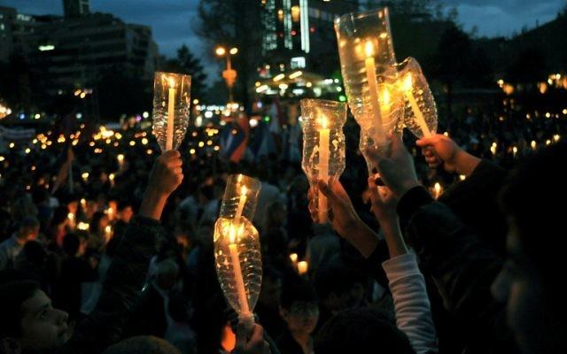 Commémoration du génocide arménien. Illustration. (Crédit : Karen Minazyan/AFP)