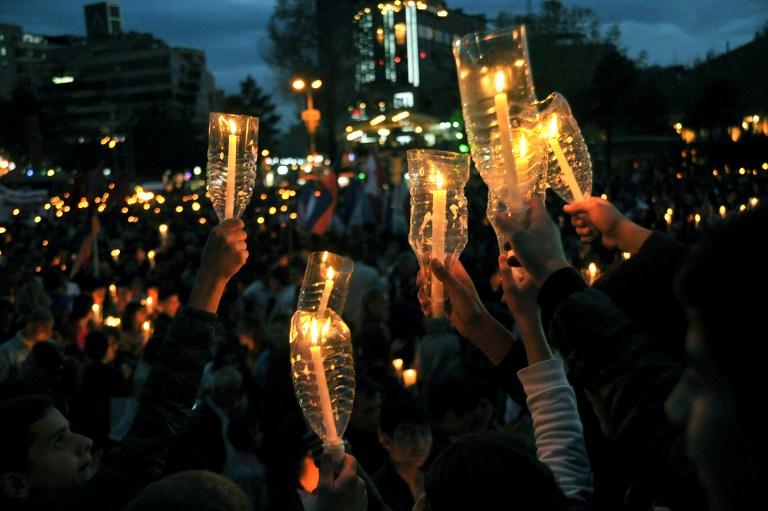 Commémoration du génocide arménien (Crédit : Karen Minazyan/AFP)