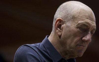 Ehud Olmert (Crédit : Yonatan Sindel/Flash 90)