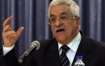 Le président de l'Autorité palestinienne Mahmoud Abbas, juin 2006 (Crédit : Ahmad Gharabli/FLASH90)