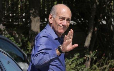 L'ancien Premier ministre israélien Ehud Olmert (Crédit : Oren Nahshon/Flash90/File)