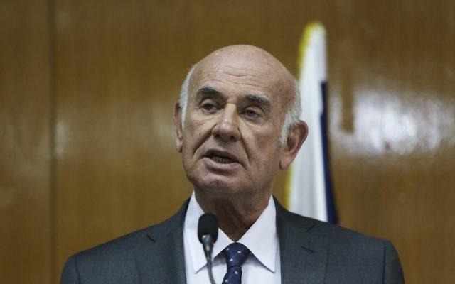 Yaakov Peri, ancien chef du Shin Beth (Crédit : Yonatan Sindel/Flash 90)