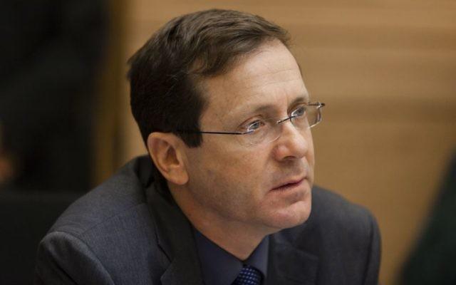 Le chef du parti Haavoda, Isaac Herzog (Crédit : Flash 90)