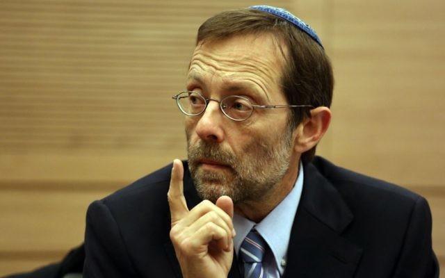 Le député Likud Moshe Feiglin, le 26 mars 2014 (Crédit : Hadas Parush/Flash 90)