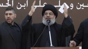 Hassan Nasrallah (Crédit : AFP/ANWAR AMRO)