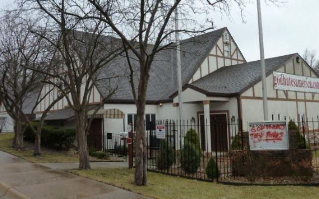 L'église baptiste de Westboro à Topeka Kansas (Crédit : Americasroof/Wikimedia commons/CC BY-SA)