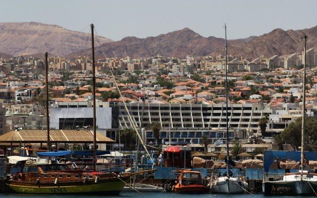 La ville d'Eilat (Crédit : Nati Shohat/Flash 90)