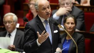 Laurent Fabius (Crédit : Lionel Bonaventure/AFP)