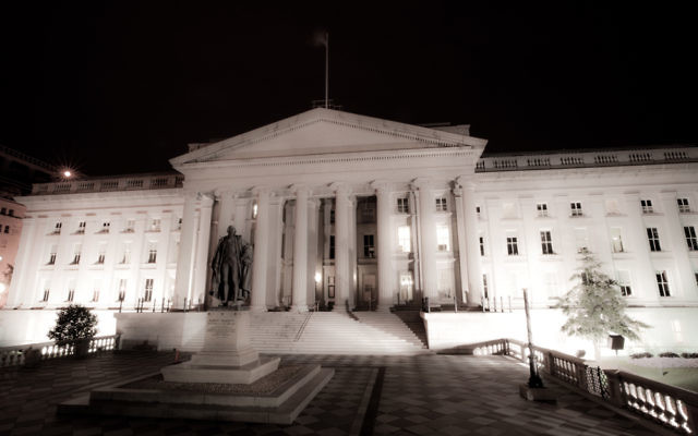 Le Département du Trésor américain (Crédit : Florian Hirzinger/CC BY-SA/WIkimedia commons)