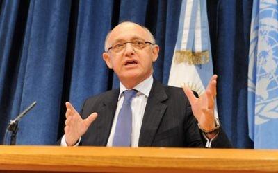 Hector Timerman, ancien ministre argentin des Affaires étrangères. (Crédit : MRECIC ARG/CC-BY/Flickr)