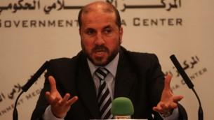 Le ministre des Affaires religieuses de l'Autorité palestinienne Mahmoud al-Habash (Crédit : Issam Rinawi/Flash 90)