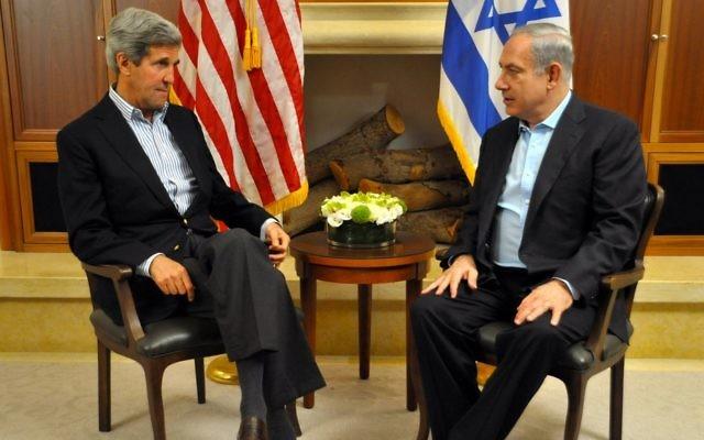 Nouveaux entretiens entre Kerry et Netanyahu (Crédit : Département d'Etat américain)