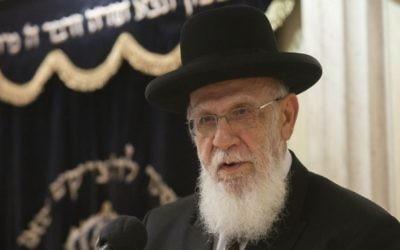 Rabbi Shalom Cohen (Crédit : Yonatan Sindel Flash 90)