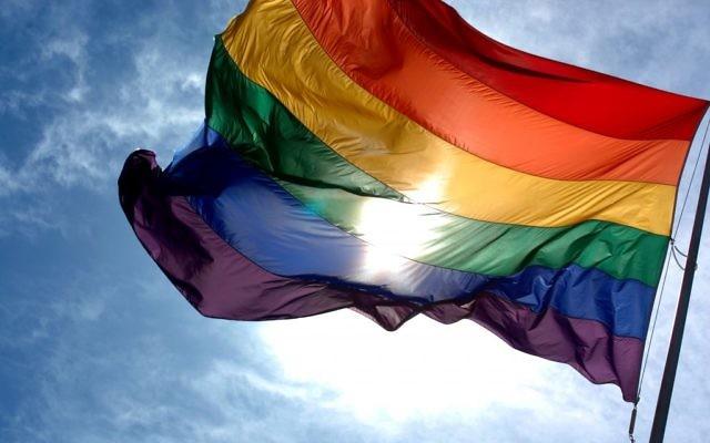 Le drapeau arc-en-ciel (Crédit : CC BY Ludovic Bertron/Flickr)