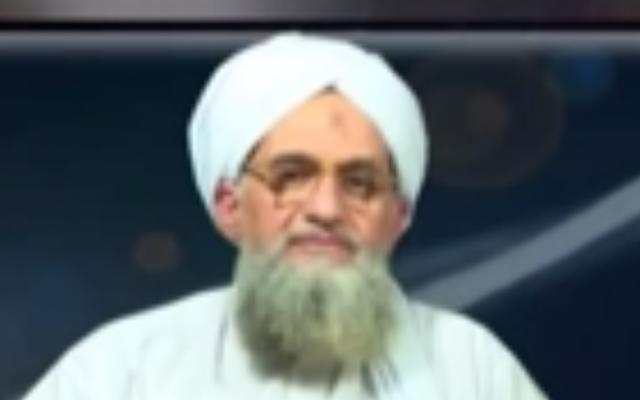 Ayman Al-Zawahiri (Crédit : capture d'écran YouTube)