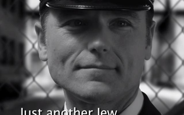Extrait d'une scène du clip Jésus au camp d'Auschwitz (Crédit capture d'écran YouTube)