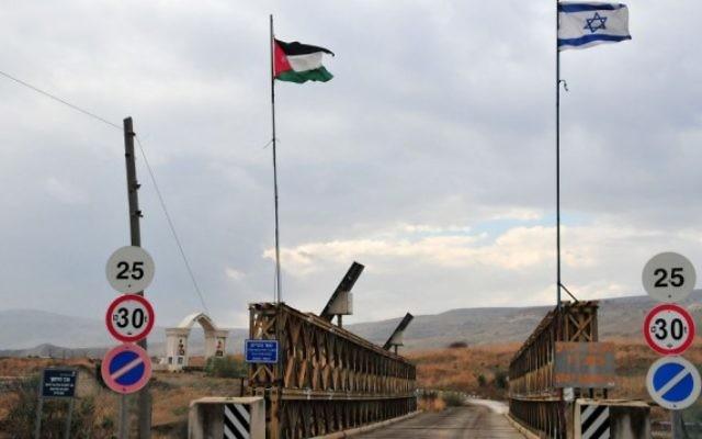 Un pont sur la frontière israélo-jordanienne (Crédit : Shay Levy/Flash 90)