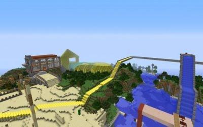 Une scène de Minecraft (Crédit : autorisation)
