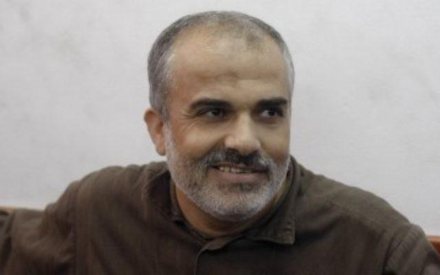 Ibrahim Hamed dans l'attente du verdict du tribunal militaire (Crédit : Oren Nahshon/Flash90)