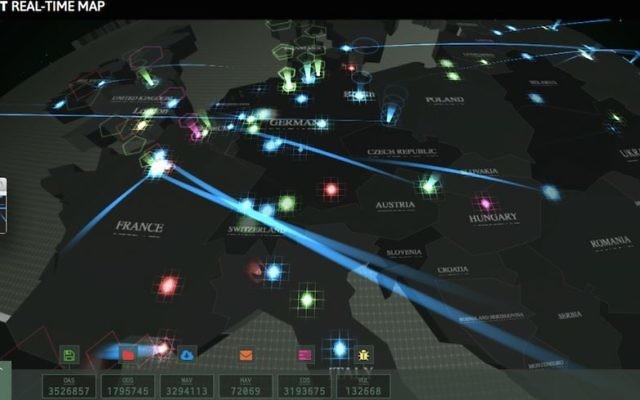 Une carte interactive des menaces cybernétiques de Kaspersky (Courtesy)