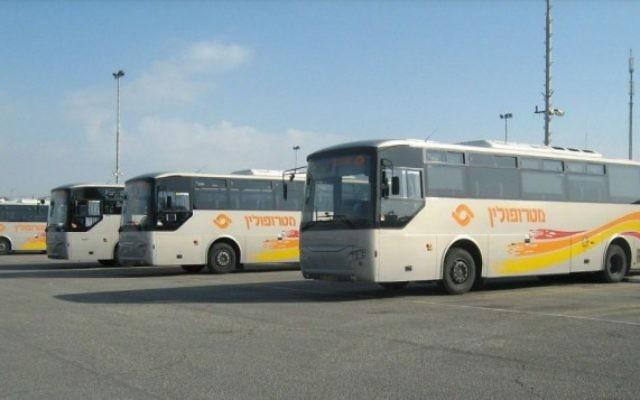 Bus de la société Metropoline (Crédit : CC BY Ori~/Wiki Commons)