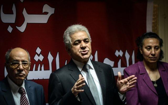 Hamdeen Sabbahi (Crédit : Mohamed el Shahed/AFP)