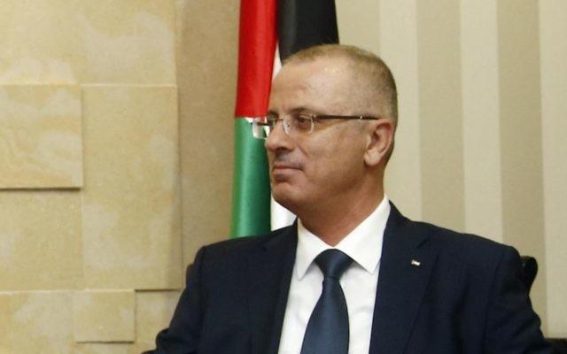 Rami Hamdallah, Premier ministre de l'Autorité palestinienne. (Crédit : Bundesministerium für Europa, Integration und Äusseres/CC BY/Flickr)