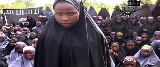 Une capture d'écran d'une vidéo postée par le groupe islamiste nigérian Boko Haram (Crédit : HO/BOKO HARAM/AFP)