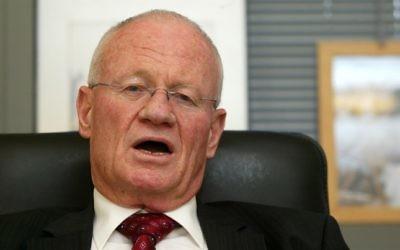 Danny Yatom, ancien directeur du Mossad (Crédit : Olivier Fitoussi/Flash 90)