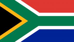 Drapeau de l'Afrique du Sud (Crédit : Frederick Brownell/domaine public)