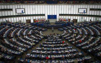 Intérieur du Parlement européen (Crédit : © Claude Truong-Ngoc /Wikimedia Commons)