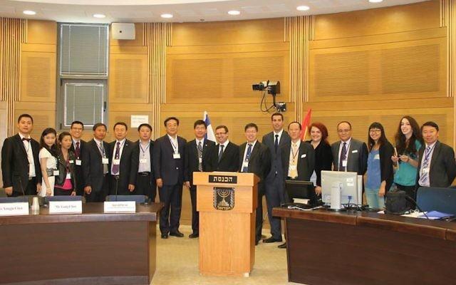 La délégation israélo-chinoise à la Knesset - 20 mai 2014 (Crédit : autorisation)