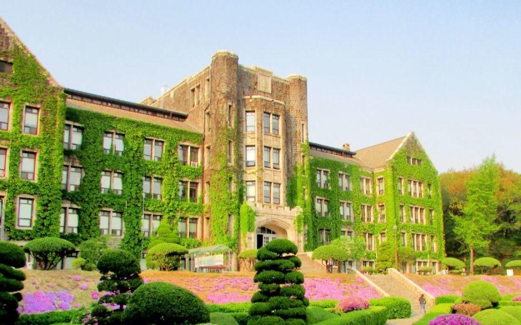Le campus de Yonsei à Séoul (Crédit : Debra Kamin/Times of Israel)